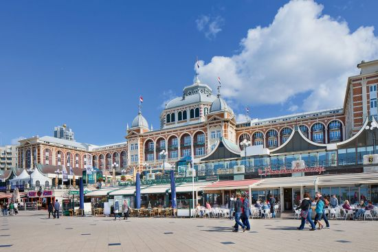 The famous Kurhaus on the promenade in Scheveningen, Netherlands, built in 1885 by German architects Henkenhaf and Ebert (photo © Tonyv3112 / dreamstime.com).