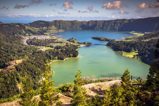 The caldera of Sete Cidades on the Azorean island of São Miguel (photo © Lukasz Janyst).