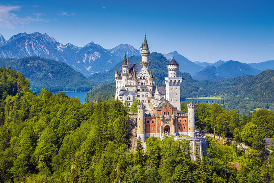 Neuschwanstein Castle in Bavaria is of course a complete fake. There is nothing mediaeval about it at all (photo © minnystock / dreamstime.com).