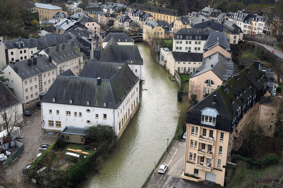 The deep valleys which bisect Luxembourg City were focal points for early industrialisation, making the most of fast-flowing rivers and local iron ore deposits (photo © hidden europe).