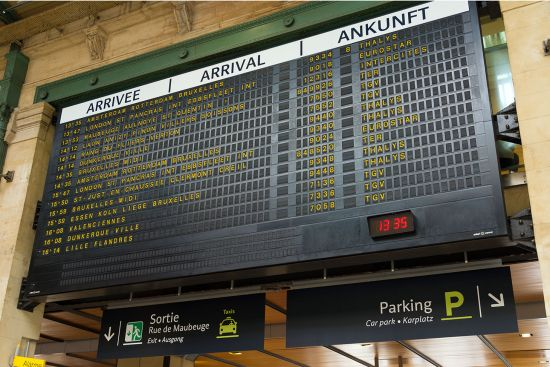 The arrivals and departures boards at French stations are augmented by very clear announcements - and by far the most celebrated voice is that of Simone Hérault (photo © Hansenn / dreamstime.com).
