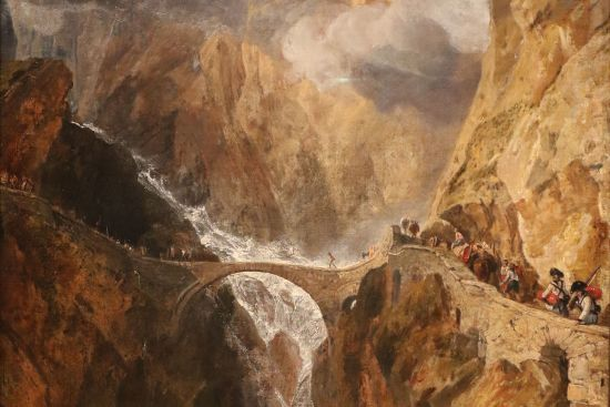 A classic staging of the sublime: JMW Turner's painting 'The Devil's Bridge, St Gotthard' (1803–4), part of the collection of the Ashmolean Museum, Oxford (photo © Andrewrabbott licensed under CC BY-SA 4.0).