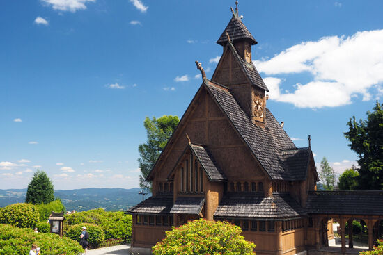 The Norwegian stave church at Karpacz, Poland (photo © hidden europe).