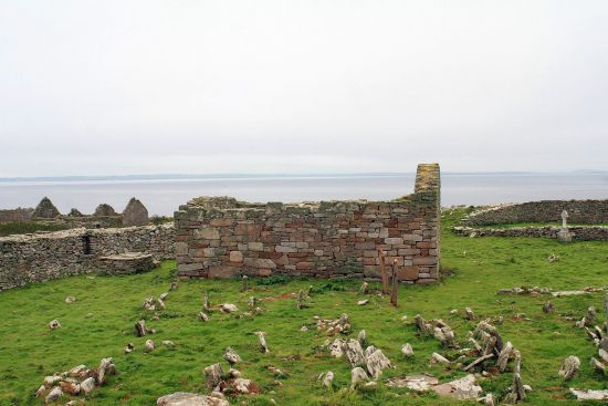 Remains of a former monastic church on Inishmurray, Ireland (photo © Andreas F Borchert licensed under CC BY-SA 3.0 DE).