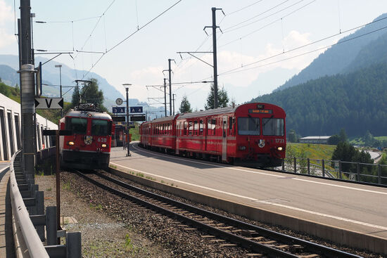 Sagliains station in Switzerland (photo © hidden europe).