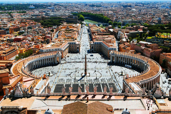 The centre of Vatican City: St Peter's Square (photo © Ivan Kurmyshov / dreamstime.com).