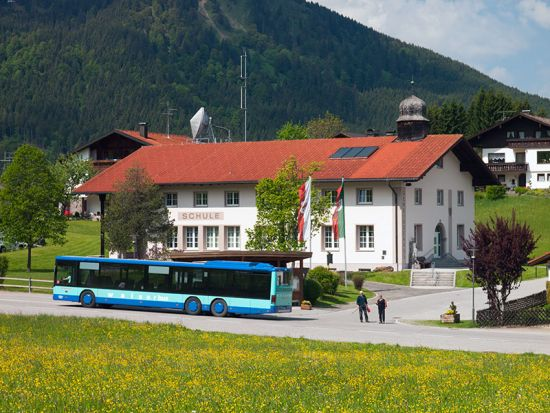 The school in the Austrian village of Jungholz could soon be welcoming pupils from the nearby German village of Unterjoch (photo © hidden europe).