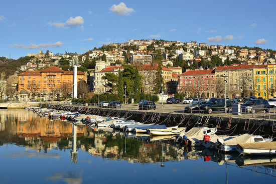 Fiume/Rijeka. From 1924 to 1943 this river was the frontier between Italy and the Kingdom of Serbs, Croats and Slovenes (photo © dragoncello / dreamstime.com).