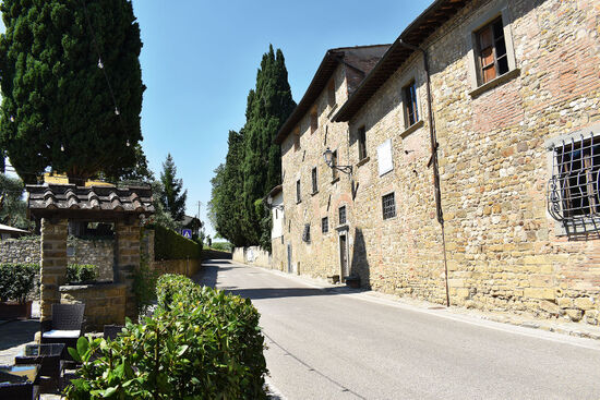 Niccolò Machiavelli's one-time home in the Tuscan village of Sant'Andrea in Percussina (photo © Kirsty Jane Falconer).