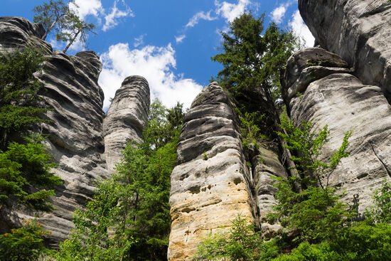 Teplice rocks in the Czech Republic (photo © hidden europe).