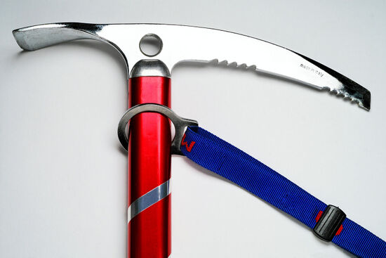 A key element in the mountaineer's armamentarium: the ice axe (photo © Claudio Baldini / dreamstime . com)
