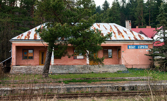 No trains to Nowy Lupków. This remote railway station in south-east Poland was closed in 2010 when an important cross-border rail link from Slovakia was axed (photo © hidden europe).