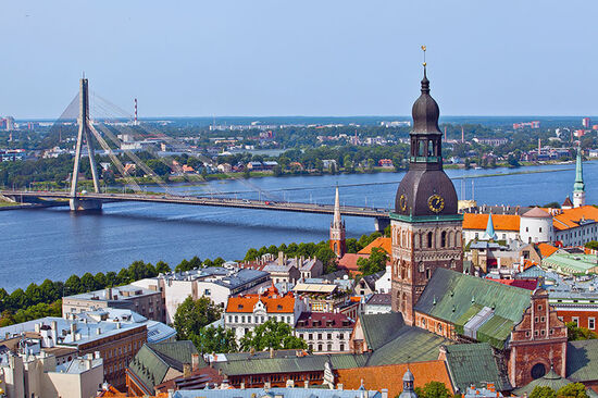 View of Riga's Old Town with the River Daugava beyond (photo © Prescott09 / dreamstime.com).