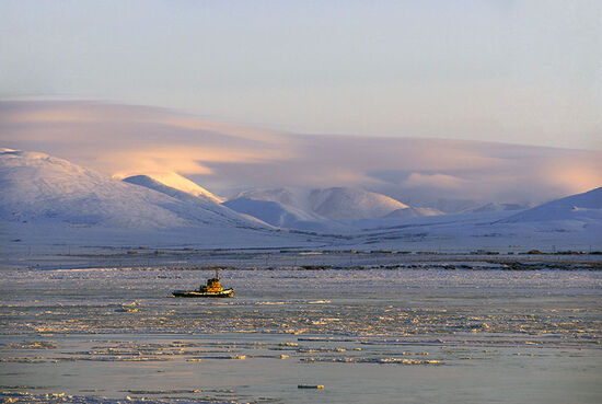 For vessels bound for the Bering Strait, the Chukchi Sea is the last major challenge before turning south towards the Pacific. Fast-moving sea ice thwarted many early mariners (photo © Sergey Karavaev / dreamstime.com).