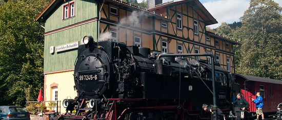 Steam train at Eilsfelder Talmühle