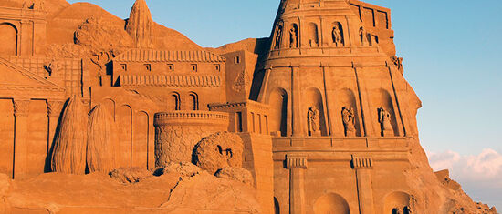 Sand sculpture in Jutland