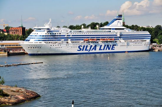 A Silja Line ferry docked in Helsinki harbour (photo © Dennis Dolkens / dreamstime.com).