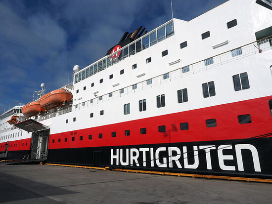 The Hurtigruten vessels which ply the Norwegian coast provide essential links to ports along the way. This is a shipping service that connects remote communities with the wider world (photo © hidden europe).