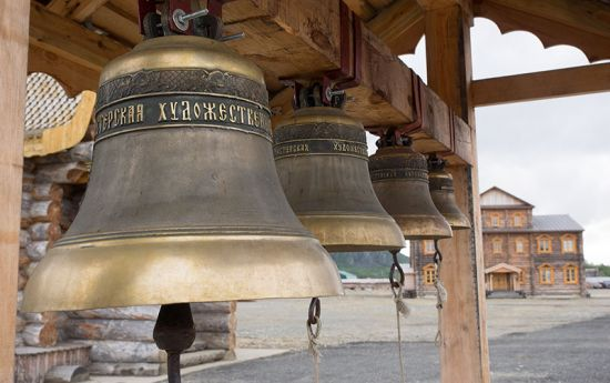 Church bells at the new Russian Orthodox monastery near Pechenga (photo © hidden europe).