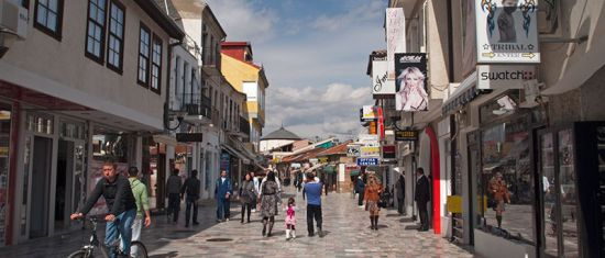 main street in Ohrid