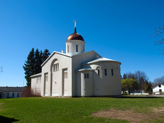 The principal church at New Valamo Orthodox Monastery in Finland (photo © hidden europe).