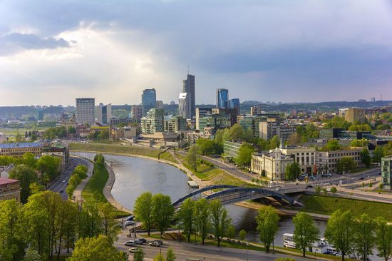 The city of Vilnius as seen from the Vilnius Castle Complex (photo © Olgacov / dreamstime.com).