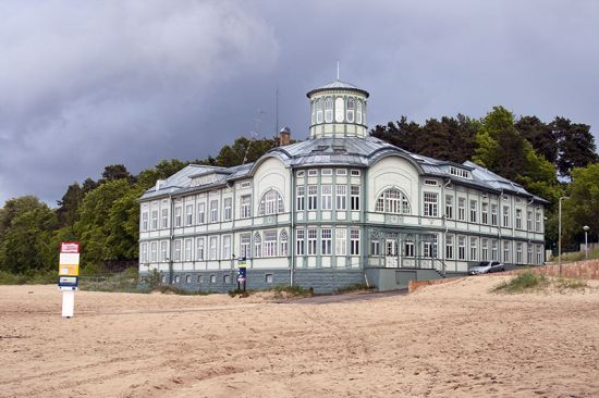 The former bath house in Jurmala, Latvia, erected in the early 20th century (photo © Sergiy Palamarchuk / dreamstime.com).