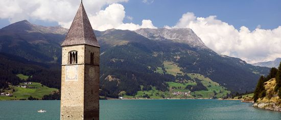 Graun-im-Vinschgau tower old parish church
