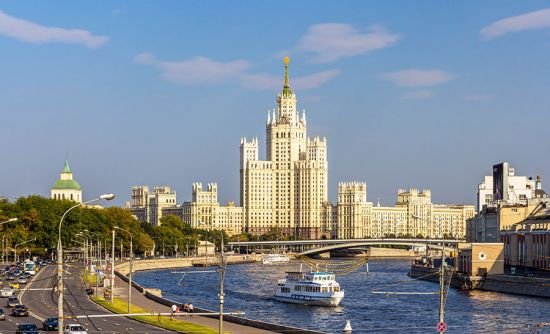 A classic piece of communist architecture: on its completion in 1952, the Kotelnicheskaya Embankment building on the Moskva River in Moscow was the tallest building in Europe (photo © Leonid Andronov / dreamstime.com).