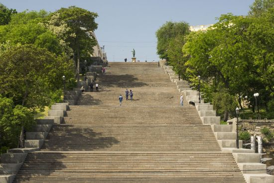 Odessa's famous Potemkin steps (photo © hidden europe).
