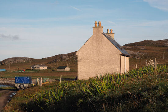 The westernmost inhabited house in Scotland is located on the island of Vatersay in the Western Isles (photo © hidden europe).