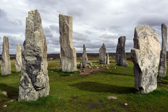 The Neolithic standing stones at Callanish on the Isle of Lewis attest to a long history of human settlement in the Outer Hebrides (photo © hidden europe).