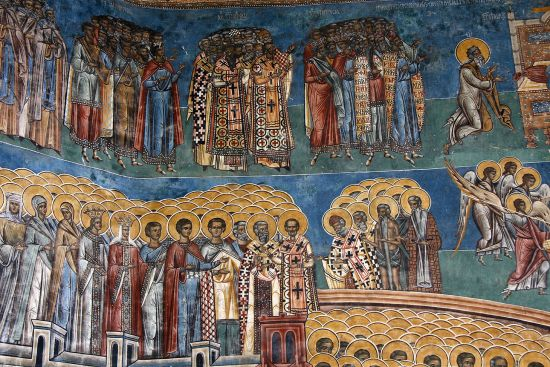 Detail from The Last Judgement mural at Voronet Monastery (photo © Laurence Mitchell).
