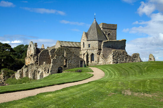 The Augustinian abbey on Inchcolm - an island in the Firth of Forth near Edinburgh (photo © Creativehearts / dreamstime.com).
