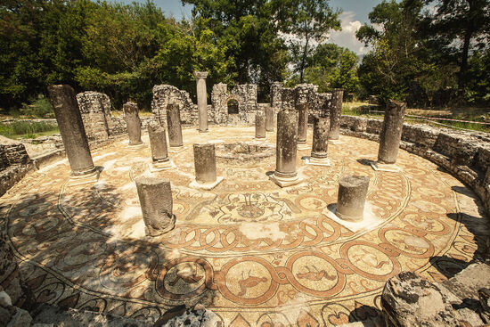 Fine Roman mosaics at Butrint, Albania (photo © Klemenr / dreamstime.com).