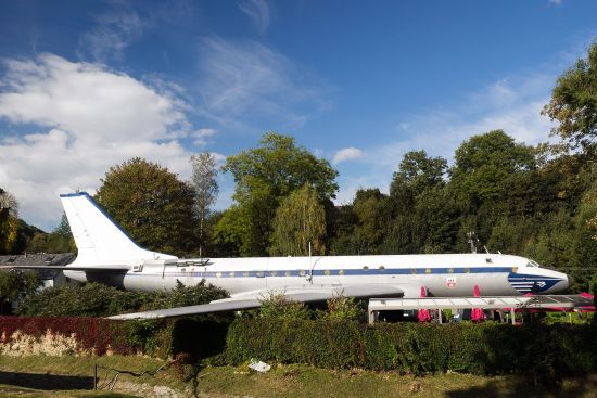 Tupolev 104 OK-LDC in the Czech border village of Petrovice (photo © hidden europe).