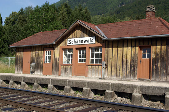 The station at Schaanwald is on the Feldkirch to Buchs railway line that cuts through Liechtenstein (© hidden europe).
