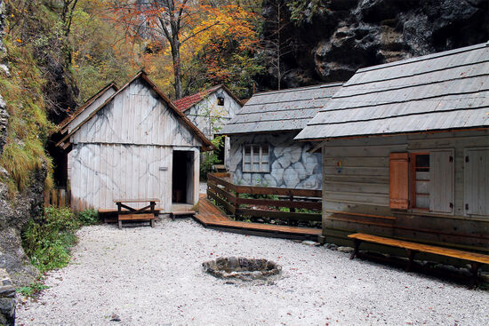 The Franja Partisan Hospital is set in a deep gorge near Cerkno (photo © Katrin Schönig).
