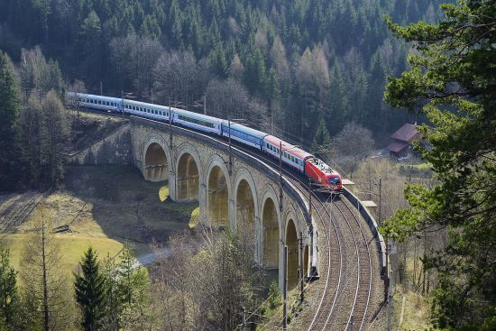 The Semmering Railway (Austria) is listed on UNESCO's World Heritage list. It traverses the Austrian Alps to link Vienna with Graz and Klagenfurt (photo © Fritz Hiersche / dreamstime.com).