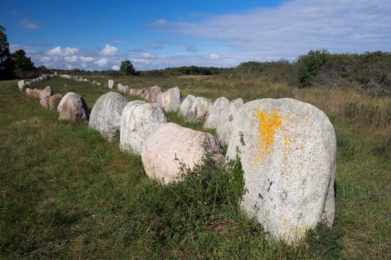 A ship grave close to the west coast of the Swedish island of Gotland (photo © hidden europe).