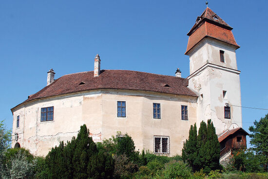 Burg Bernstein stands on a prominent crag in the hill country of Austria's Burgenland region (photo © Duncan JD Smith).