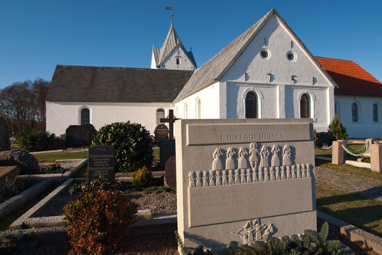 The island church on Rømø is dedicated to St Clement, patron-saint of mariners (photo © hidden europe).