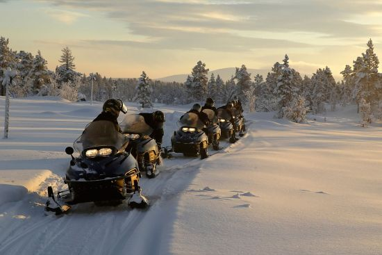Cross-border snowmobile expeditions have developed at Salla in Finland, allowing visitors to make an excursion into Russia (photo © Mlenny / istockphoto.com).