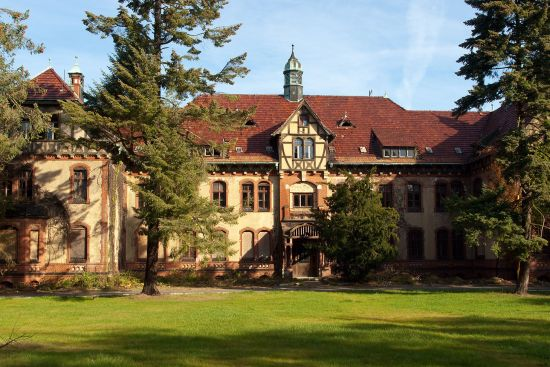 The former Russian military hospital at Beelitz where Erich and Margot Honecker lived for a spell (photo © hidden europe).