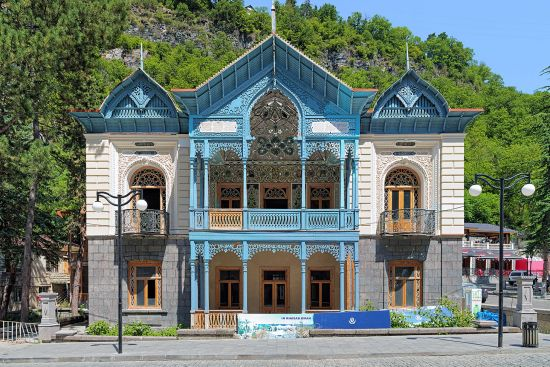 The former house of the Iranian consul (called Firouza) in Borjomi, Georgia (photo © Mikhail Markovskiy / dreamstime.com).