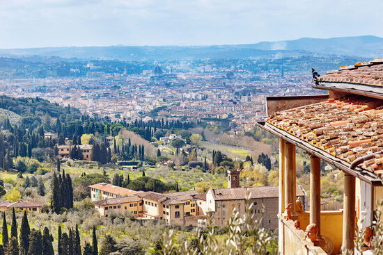 View down from Fiesole towards Florence (photo © Roman Shyshak / dreamstime.com).