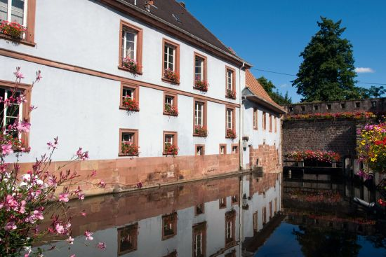 One of the branches of the River Lauter running through the heart of Wissembourg (photo © hidden europe).