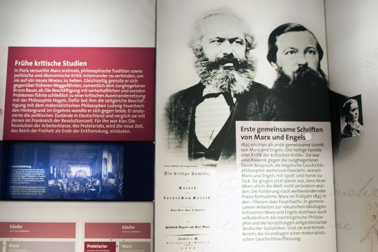 The exhibition in the Karl-Marx-Haus in Trier very successfully brings alive a potentially rather dry topic (photo © hidden europe).