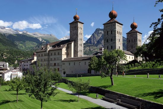 Stockalper Castle in Brig is named after the man who pioneered trade over the Simplon Pass (photo © Ron Sumners / dreamstime.com).