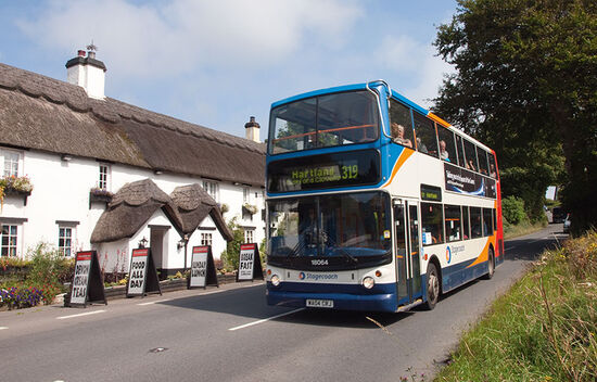 Passing Hoops Inn on the A39 bus (photo © hidden europe).